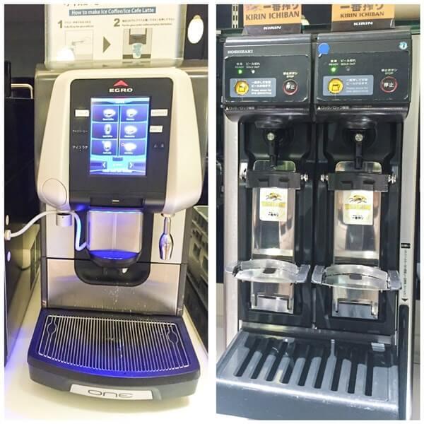 コーヒーマシーンとビールサーバー