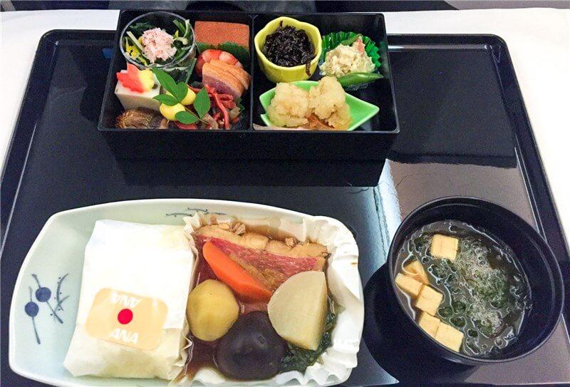 日本発機内食(和食)