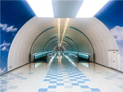 第4サテライトと第5サテライト直通の地下通路