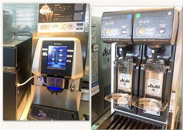 コーヒーマシーンやビールサーバー
