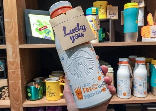 ステンレスボトルロゴラッキーオレンジ473ml