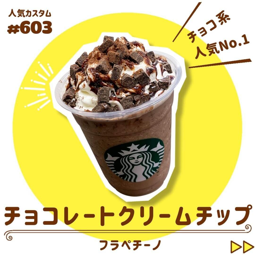 チョコレートクリームチップフラペチーノ 圧縮
