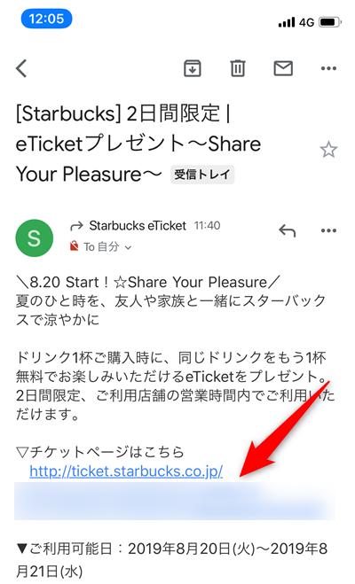 メールからの表示の仕方