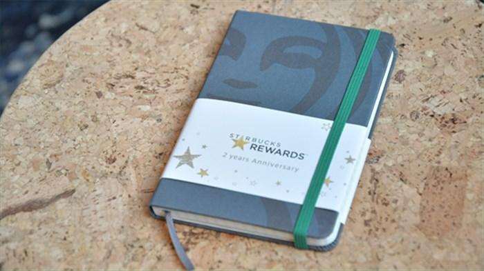 スタバ×モレスキンのオリジナルノートが貰える!リワード2周年企画