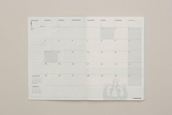 日本の曜日・祝日の表記に対応した週間レフト式
