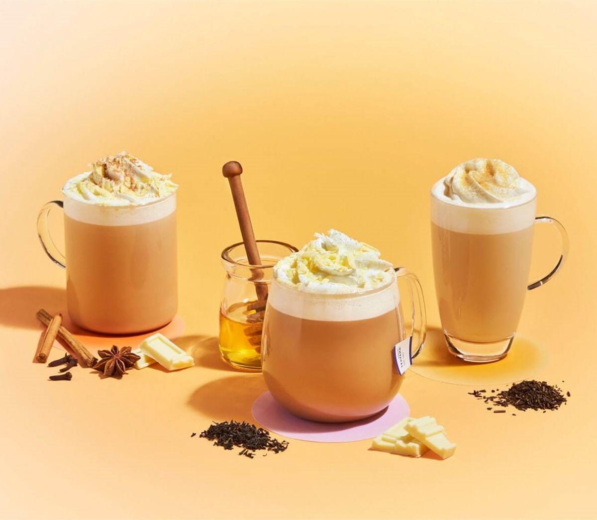 アールグレイハニーホイップティー ラテ-チャイ&ホワイトチョコレートティーラテ-ほうじ茶クリームティーラテ2