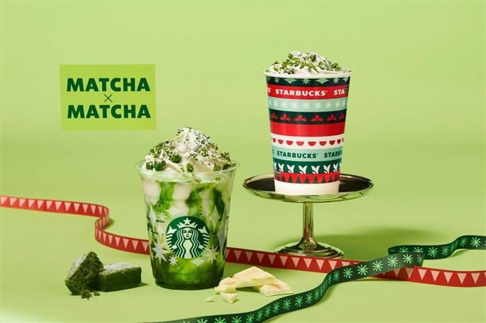スタバの新作 抹茶×抹茶ホワイトフラペチーノ 抹茶×抹茶ホワイトチョコレート