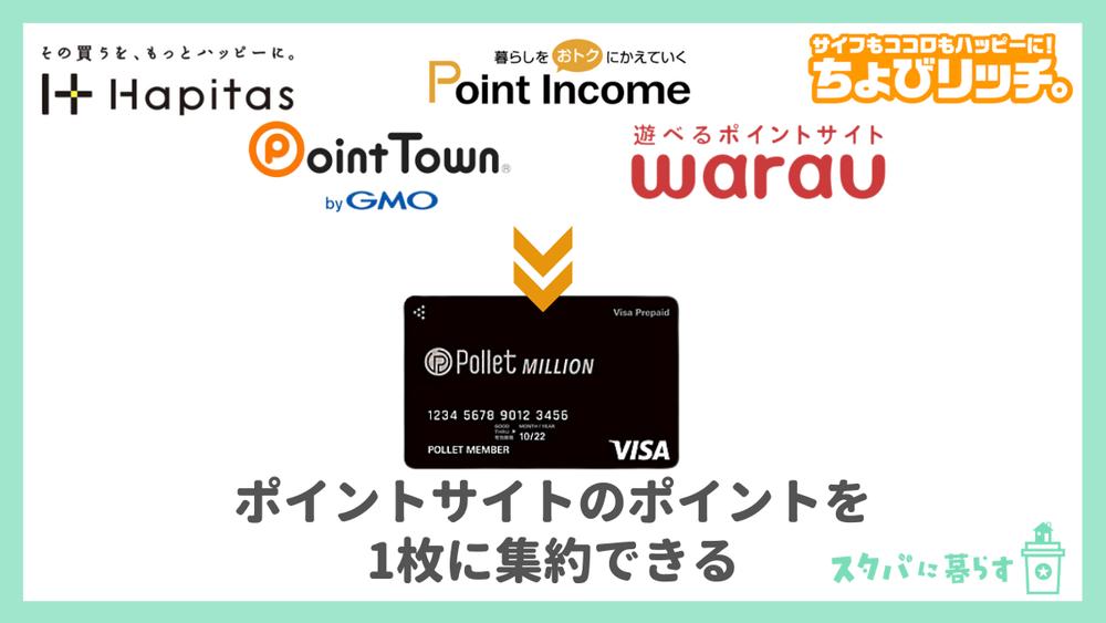散らばったポイントを集約してクレジットカードのように使える